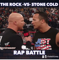 Funny, Rap, and Rap Battle: THE ROCK-VS STONE COLD  RENTERTAINMENT  RAP BATTLE  10 eTheWallOfComedy If The Rock and Stone Cold had a Rap Battle  Ren