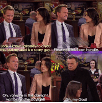 {8x13} Yeh, he can handle😂💙 -- Scene requested by @ahmed_umaar himym howimetyourmother sitcom barneystinson neilpatrickharris robinscherbatsky cobiesmulders: The Route!  e Route!  Look know lready told you  this, but m  ad is a scary guy. Please, think  can handle.  howimetyourmothe  The Route!  BE SEA  inais  Oh, vampire in the daylight,  vampire the daylightl  Oh, my God! {8x13} Yeh, he can handle😂💙 -- Scene requested by @ahmed_umaar himym howimetyourmother sitcom barneystinson neilpatrickharris robinscherbatsky cobiesmulders