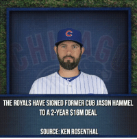 A big thank you to Jason, from bringing Addison Russell and parts that would prove essential to the Chapman trade to being a reliable starter for 3 years with us. - @CubsNation2017 @CubsCoverage @Cubs_Fanzone @KrisAndTheCubs @CubbieChronicle @InstantMLB @Athletics.Report @CubsTalk - Cubs VoteCubs AllStarGame KrisBryant AnthonyRizzo BenZobrist AddisonRussell DexterFowler: THE ROYALS HAVE SIGNEDFORMER CUB JASON HAMMEL  TO A 2-YEAR S16M DEAL  SOURCE: KEN ROSENTHAL A big thank you to Jason, from bringing Addison Russell and parts that would prove essential to the Chapman trade to being a reliable starter for 3 years with us. - @CubsNation2017 @CubsCoverage @Cubs_Fanzone @KrisAndTheCubs @CubbieChronicle @InstantMLB @Athletics.Report @CubsTalk - Cubs VoteCubs AllStarGame KrisBryant AnthonyRizzo BenZobrist AddisonRussell DexterFowler