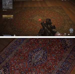 The rugs in Call of Duty Modern Warfare are based off The Dude's rug from The Big Lebowski: The rugs in Call of Duty Modern Warfare are based off The Dude's rug from The Big Lebowski