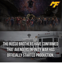|- I feel somewhat aroused... -| - - - - marvel marveluniverse dccomics marvelcomics dc comics hero superhero villain xmen apocalypse logan mu mcu doctorstrange spiderman deadpool meme captainamerica ironman teamcap teamstark teamironman civilwar captainamericacivilwar marvelfact marvelfacts fact facts suicidesquad: THE RUSSO BROTHERS HAVE CONFIRMED  THAT AVENGERSINFINITY WAR HAS  OFFICIALLY STARTED PRODUCTION |- I feel somewhat aroused... -| - - - - marvel marveluniverse dccomics marvelcomics dc comics hero superhero villain xmen apocalypse logan mu mcu doctorstrange spiderman deadpool meme captainamerica ironman teamcap teamstark teamironman civilwar captainamericacivilwar marvelfact marvelfacts fact facts suicidesquad