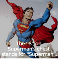 """Superman Pics: The """"S"""" O  uperman's chest  stands for Superman"""