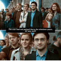 """Memes, 🤖, and Harry: The scar had not pained Harry for nineteen years.  THE LOSTPROPHECY  All was well. Try to write """"Deathly Hallows"""" in the comments with your eyes closed △⃒⃘."""