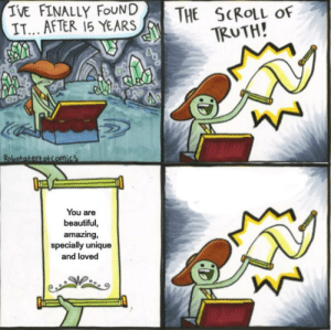 The Scroll of Truth says it all: The Scroll of Truth says it all