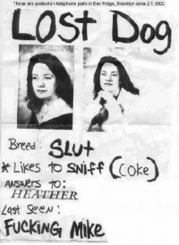 """Dank, Fucking, and Meme: The se are posted on telechane polls in Eay Ridge, Biookiyn arca 2.1.2002  LOSt Dog  Bres SLut  * Likes to SNiFf Coke  HEATHER  Last Seew  FUCKİNG Mike <p>Never cheat on this guy via /r/dank_meme <a href=""""http://ift.tt/2FJ16u8"""">http://ift.tt/2FJ16u8</a></p>"""
