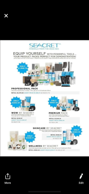 The Seacret skincare starter packs are so expensive! Such an absurd price for such little product. Anyone have experience with Seacret?: The Seacret skincare starter packs are so expensive! Such an absurd price for such little product. Anyone have experience with Seacret?