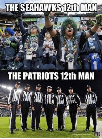 Seattle vs New England: THE SEAHAWKS 12th MAN  hing  ME  THE PATRIOTS 12th MAN Seattle vs New England