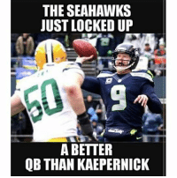 Jon Ryan is staying in Seattle GoHawks: THE SEAHAWKS  JUST LOCKED UP  A BETTER  QB THAN KAEPERNICK Jon Ryan is staying in Seattle GoHawks