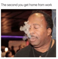 @toptreemedia is the ultimate weed meme page: The second you get home from work @toptreemedia is the ultimate weed meme page