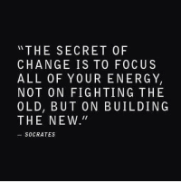 """Memes, Socrates, and 🤖: THE SECRET OF  CHANGE IS TO FOCUS  ALL OF YOUR ENERGY,  NOT ON FIGHTING THE  OLD, BUT ON BUILDINGS  THE NEW.""""  SOCRATES Yes... Queen, do you agree? #thequeencode"""