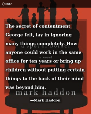 Mark Haddon-A Spot of Bother