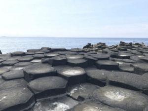 Giant, Ireland, and Northern Ireland: The shape these stones were formed at The Giants Causeway in Northern Ireland