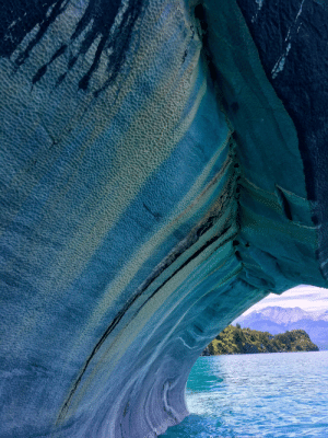The side of the Marble Chapel (Lago General Carrera, Chile): The side of the Marble Chapel (Lago General Carrera, Chile)