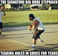 Nba, Shoes, and Tag Someone: THE SIGNATURE BIG DUDESTEPBACK  ENBAMEMES  TEARING HOLESIN SHOES FOR YEARS TAG someone who this happens to.