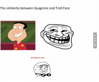 mother of god: The similarity between Quagmire and Troll Face  MOTHER OF GOD...