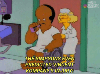 I'm done 😂😂😂: THE SIMPSONS EVEN  PREDICTED VINCENT  KOMPANYIS INJURY!  UMEMESINSTA I'm done 😂😂😂