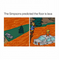 the floor is fuckboys: The Simpsons predicted the floor is lava the floor is fuckboys