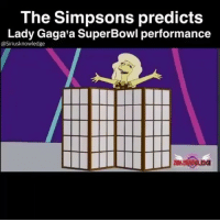 The Simpsons predicts  Lady Gaga a SuperBowl performance  asiriusknowledge simpsons don't miss anything