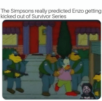 Survivor Series: The Simpsons really predicted Enzo getting  kicked out of Survivor Series