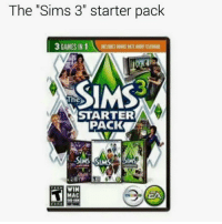 """Starter Packs, The Sims, and The Sims 3: The """"Sims 3"""" starter pack  3 GAMES IN 1  The  STARTER  PACK  SIAS SIMS  WIN  MAC"""