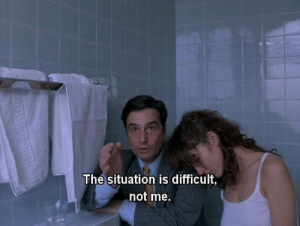 The Situation,  Difficult, and Not Me: The situation is difficult,  not me.