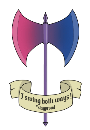 the-skull-breaker:  hell-o, guys ! a double axe for the Pride Knights as a bisexuality symbol, because… you know… axes are cool !: the-skull-breaker:  hell-o, guys ! a double axe for the Pride Knights as a bisexuality symbol, because… you know… axes are cool !