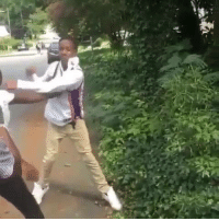 Slow Motion, Hood, and They: The slow motion made it clear what they was throwing! 😂 😂