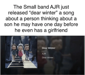The Small Band Ajr Just Released Dear Winter A Song About A Person Thinking About A Son He May Have One Day Before He Even Has A Girlfriend Dear Winter Ajr Dear Today's biggest artists discuss lyrics and share songwriting secrets. the small band ajr just released dear