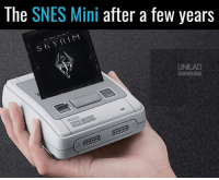 Memes, Gaming, and 🤖: The SNES Mini after a few years  R.  UNILAD  GAMING Can't wait 😅