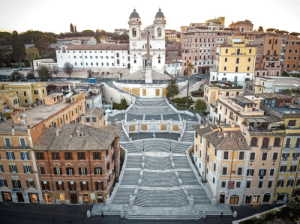 The Spanish steps of Rome sans tourists: The Spanish steps of Rome sans tourists