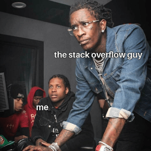 head over to stack overflow.: the stack overflow guy  me  $t  S head over to stack overflow.