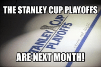 Memes, 🤖, and Net: THE STANLEY CUP PLAYOFFS  ARE NET MONTH! How is the season already almost over?? It was just October! Get hyped boys stanleycup stanleycupplayoffs nhl hockey chicagoblackhawks