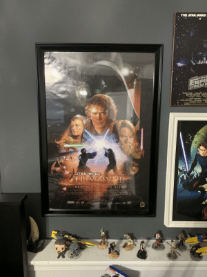 This isn't really a meme, but I just wanted to show off a new poster I got for my wall. 😁😁😁😁😁: THE STAR WARS  STAR  THEE  EMPI  STRIKES B  MARK HAMILL HARRISON FORD  BILLY DEE WILLIAMS ANTHO  DAVD PROWSE  KENNY BAKER  PETER MA  IRVIN KERSHNER  LEIGH BRACKETT LAWRENCE KASDA  GEORGE LUCAS  JOH  ric-os-Cec  STAR WARS  EPISODE I  REVENGE OF THE SITH  STAR WARS  EPISODE III REVENGE OF TH E SITH  Scarrina EWAN MCGREGOR  NATALIE PORTMAN  SAMUEL L.JA CKSON  HAYDEN CHRISTENSEN  IAN  Mc DIARMID  CHRIS TOPHER LEE  rete ANTHONY DANIALS KENNY GAKER  FRANK O2  Music ty JOHN WILLIAMS  raduced by R  ICK Mc CALLUM  WHILE d Direceda by  GEORGE LUCAS  JCASE IM  Speclal Vis Etecs snd Aa y INDUSTRIAL LIGHT & MAGIC  A LUCASFLMLTD.odr AYWENTIETH CENTURT FOX Reiee  Sosndrack Asallable ONY CLASSICAL Read Uhe Novel t DEL REY OKS  W St arw ars. Com  TEX  SDDS  TRENDS  OUTERS This isn't really a meme, but I just wanted to show off a new poster I got for my wall. 😁😁😁😁😁