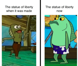 Frédéric Auguste Bartholdi: no! this isn't how you're supposed to play the game :(: The statue of liberty  The statue of liberty  when it was made  now Frédéric Auguste Bartholdi: no! this isn't how you're supposed to play the game :(
