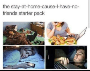 Stay At Home: the stay-at-home-cause-I-have-no-  friends starter pack