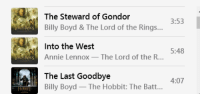 annie lennox: The Steward of Gondor  Billy Boyd&The Lord of the Rings...  3:53  Into the West  5:48  NS Annie Lennox - The Lord of the R...  The Last Goodbye  Billy Boyd The Hobbit: The Batt...  4:07  74妇叮