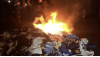 The sting of the Chargers decision to move to LA is still fresh in SanDiego, where fans set fire to a pile of memorabilia that's grown throughout the day at Chargers Park. 👀 @abc10news WSHH: The sting of the Chargers decision to move to LA is still fresh in SanDiego, where fans set fire to a pile of memorabilia that's grown throughout the day at Chargers Park. 👀 @abc10news WSHH