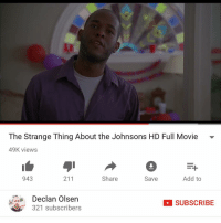 Memes, 🤖, and Olsen: The Strange Thing About the Johnsons HD Full Movie  49K views  943  Share  Add to  211  Save  Declan Olsen  SUBSCRIBE  321 subscribers Fam this Movie was Strangely put together and it was extra sad cuz it was a black family smh