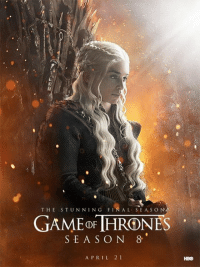 Game of Thrones, Hbo, and Final: THE STUNNING FINAL SEAS O N  SEAS O N 8  A PRIL 2 1  HBO