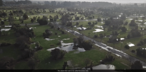 """Earthquakes, Now, and Still: The suburb that used to be called Horseshoe Lake. Aerial view of former """"Horseshoe Lake"""" suburb in Christchurch. About 10,000 people lived in this area before the Canterbury Earthquakes of 2009/10. Now there's less than 100 still there."""