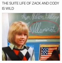 "Bruh, Illuminati, and Life: THE SUITE LIFE OF ZACK AND CODY  IS WILD  @webewildin BRUH LIKE THIS TO ACHIEVE MAXIMUM LEVEL OF WOKITIVITY (update: clearly the i at the end of ""illuminati"" is not an e. It clearly looks like an i you can even see the faint mark above the i)"