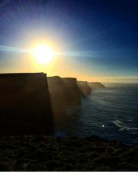 Memes, Chillis, and 🤖: The sun swinging bright on a chilly February morning at the Cliffs of Moher. Who plans on visiting these beauties in 2017?