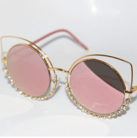 The sunglasses to end all sunglasses? Get these gorgeous crystal cat eyes but be quick... I have a sneaking suspicion I didn't order enough 😬 www.TheSassyBird.com-collections-sunglasses