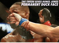 EPIC FIGHT: THE SWEDE GIVES BONES JONES  PERMANENT DUCK FACE EPIC FIGHT