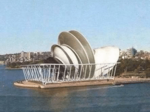 The Sydney Opera House on completion in 1973: The Sydney Opera House on completion in 1973