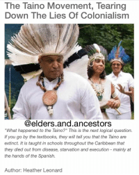 Regrann from @elders.and.ancestors - But I would tell you that if you really want to know what has become of the Taino, and you are in the Caribbean, all you need to do is look around you. Odds are that someone in your village has Taino DNA in their veins. I can say this because back in 2003, a biologist named Juan C. Martínez Cruzado did a DNA study in Puerto Rico that came up with some astonishing results. A whopping 61% of those he studied had Taino DNA of maternal mitochondrial origin. What this illustrates is that far from being extinct, the Taino bloodline has survived on a massive scale. So far the DNA testing has found Taino bloodlines existing today in Puerto Rico, Cuba, Dominican Republic, Haiti, Jamaica and the Dominican Carib. Taino DNA has been found in the Maroon population of Jamaica. Other Jamaicans also have Taino DNA due to the cultural blending of Africans and Tainos. Many individuals in the Carib tribes of the Caribbean also have Taino DNA and the Taino language has even infiltrated their Carib language. This is because when the Carib raided Taino villages they would capture the women and make them their wives. Hispaniola and Cuba have proven to hold large numbers of Taino descendants as well. Why has this been ignored? Because a well thought out plan of genocide was perpetrated against the Taino people. It best served the interests of the colonial governments that there be no indigenous West Indians who could claim indigenous rights. And so it was, that with a pen as their weapon, they wrote the Taino people into extinction, calling them Creole or Mulatto, or some other name, so as to divert from their true native ancestry. Many West Indians walking amongst us today have no idea of the Taino DNA that is flowing through their veins. How do you know if you might be a Taino descendant? Think about your culture as a West Indian. Have you ever woven a palm frond basket or bowl? Have you eaten from a calabash? Have you made or eaten cassava bread? Do 