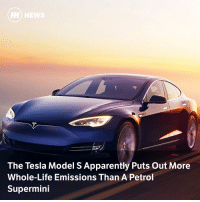 Apparently, Cars, and Life: The Tesla Model S Apparently Puts Out More  Whole-Life Emissions Than A Petrol  Supermini Via @carthrottlenews - The topic of whole-life emissions is a hot potato when it comes to electric cars, which often require very dirty production methods. A new MIT study has proven what EV makers don't want to hear... sort of