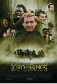 Lord of the Rings, the lost Bendtner edition.: THE  THE FELLOWSHIP OF THE RING Lord of the Rings, the lost Bendtner edition.