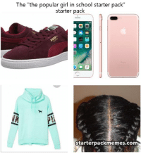 """Credit to https://starterpackmemes.com/post/3807_the-popular-girl-in-school-starter-pack: The """"the popular girl in school starter pack""""  starter pack  Starterpackmemes.com Credit to https://starterpackmemes.com/post/3807_the-popular-girl-in-school-starter-pack"""