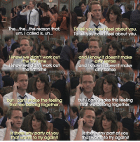 {7x1} Poor Robin😭💔 -- Scene requested by @muqrieeys & @hvd97.insta himym howimetyourmother sitcom robinscherbatsky cobiesmulders barneystinson neilpatrickharris: The...the...the reason that,  um, I called is, uh...  To tell you  To tell you how l feel about you.  eel about you.  rf  Iknow we dlidn't work out  andI know it doesn't make  any sense  and I know i doesn't make  ihe  Jknow we didnt work out  the first time  howimetyouothermefanpage any sense  gram  caniehg  that we belong together.  burl ca  ke this feeling  but I cant shake the feeling  that we belong together.  y party of you  that wanis to try again?  s there any part of you  that wanisto try again?  th {7x1} Poor Robin😭💔 -- Scene requested by @muqrieeys & @hvd97.insta himym howimetyourmother sitcom robinscherbatsky cobiesmulders barneystinson neilpatrickharris